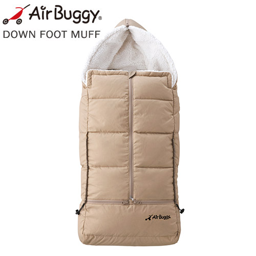 【NEW 2017最新モデル】AirBuggy ダウンフットマフ ベーシック キャメル[ABMF0003]